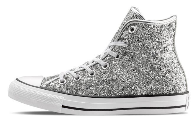Sneakers Converse All Stars glitter per Natale