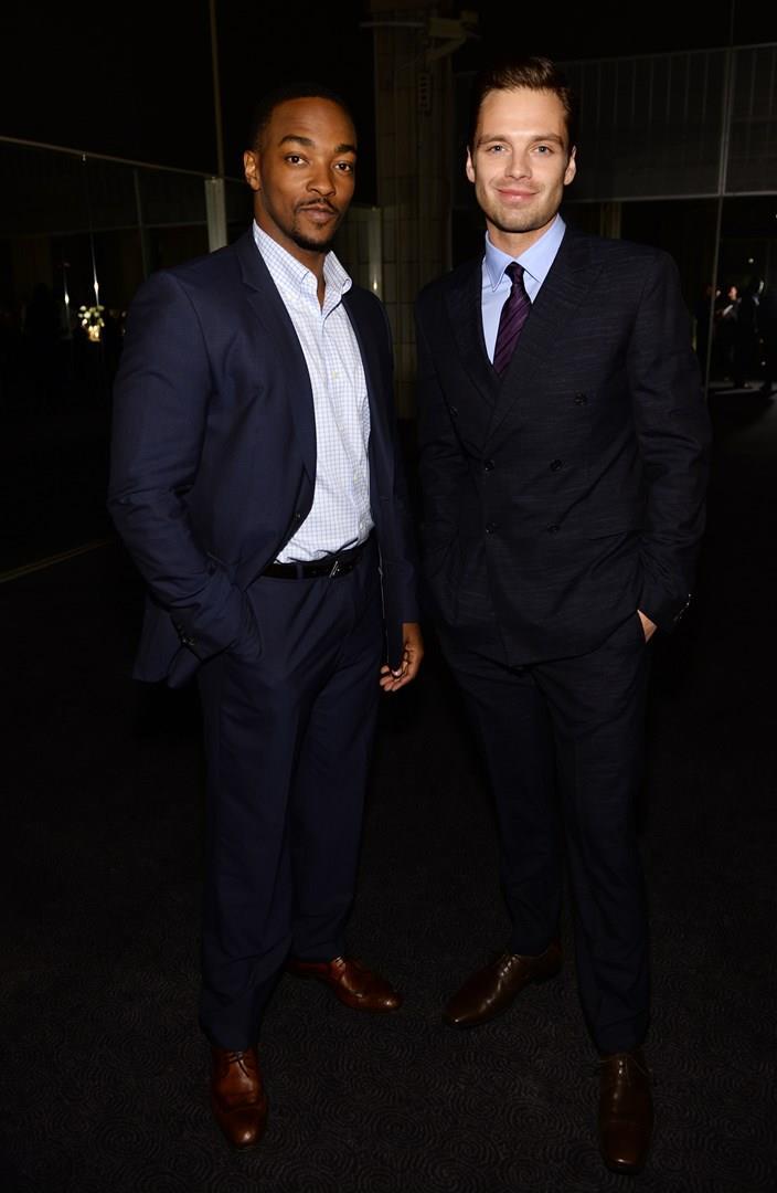 Anthony Mackie e Sebastian Stan ad un evento Marvel a Singapore