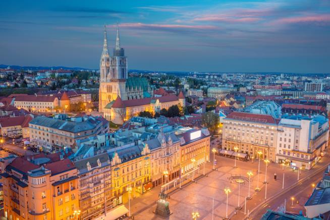 La piazza centrale di Zagabria