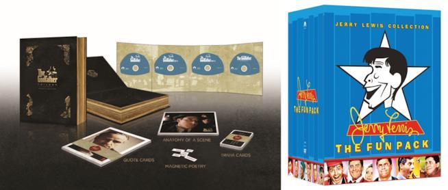 cofanetti speciali de Il padrino 45 anniversario e Jerry Lewis Collection