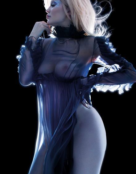 Kylie Jenner in nero velato per V Magazine