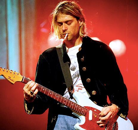 Kurt Cobain in primo piano