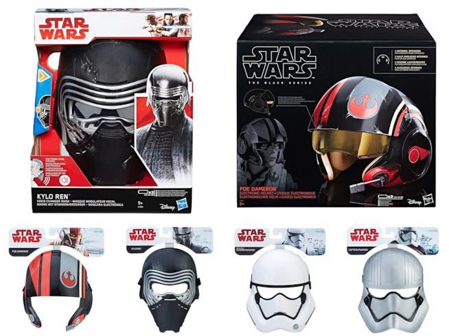 Gamma di maschere giocattolo ed elmetto ispirate ai persoanggi di Star Wars