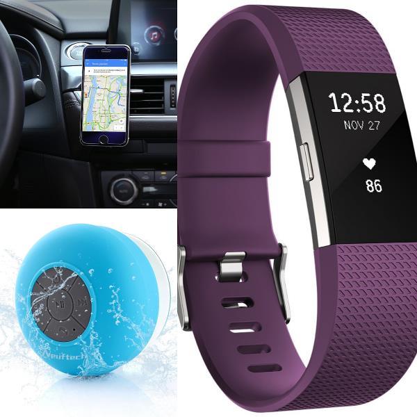Supporto per smartphone AUKEY, Smartwatch Fitbit e cassa altoparlante Neuftech