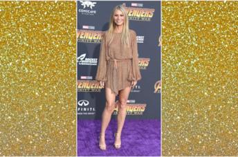 Gwyneth Paltrow indossa un vestito dorato