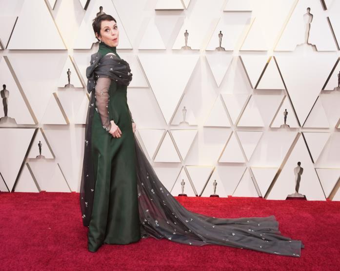 Olivia Colman sul red carpet degli Oscar 2019