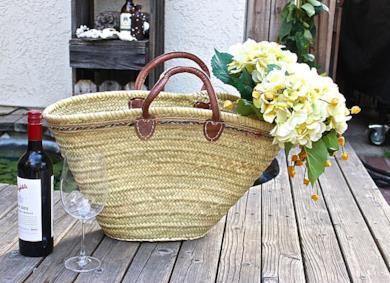 French Tote Bag di paglia