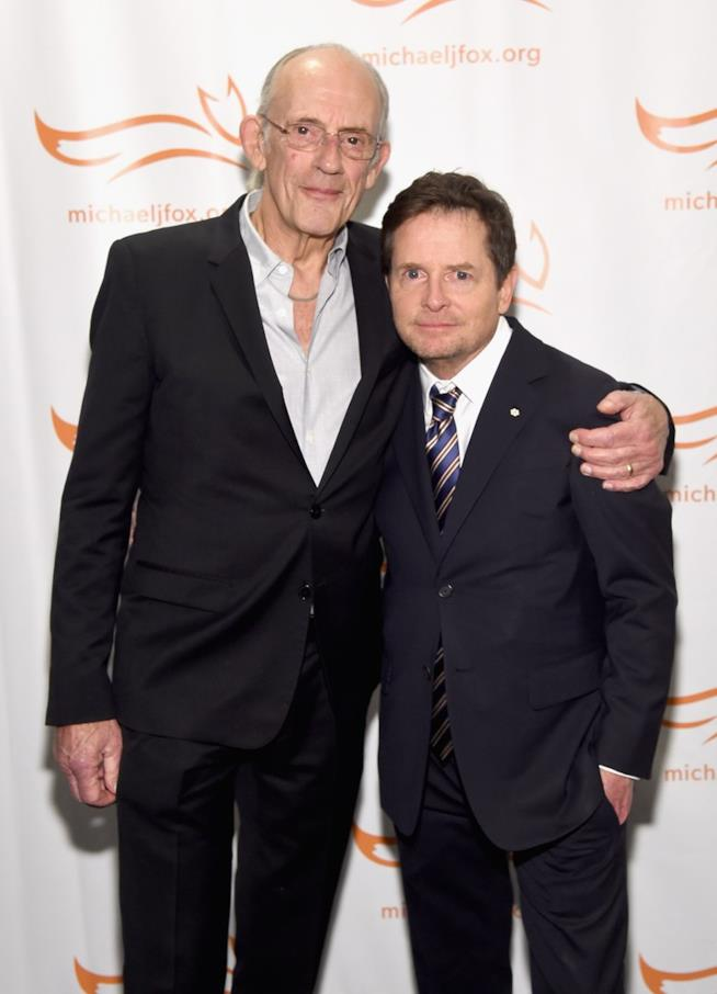 Christopher Llyod e Michael J. Fox insieme sul red carpet