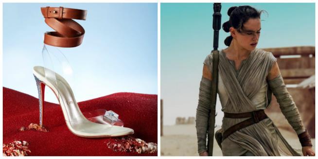 Il sandalo Louboutin associato a Rey