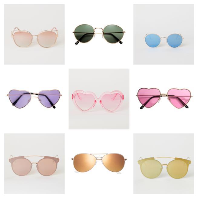 Colorati e a specchio, gli occhiali da sole P/E 2018
