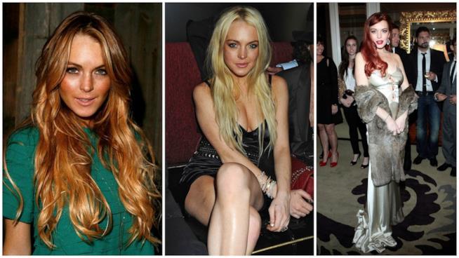 Il look da bad girl di Lindsay Lohan