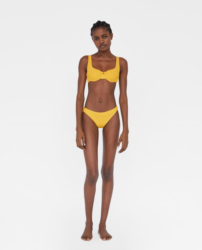 Bikini giallo collezione Zara 2018