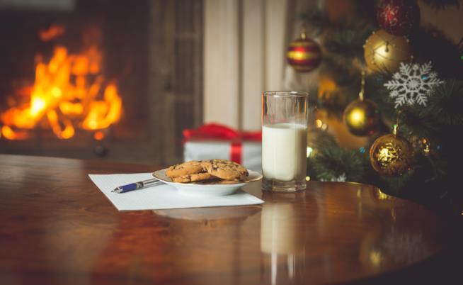 Latte e biscotti per Babbo Natale