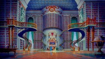 La biblioteca de La Bella e la Bestia