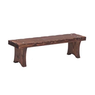 Panca sgabello in legno massiccio