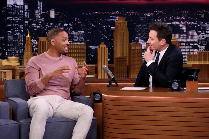 Will Smith e Jimmy Fallon durante una puntata del The Tonight Show