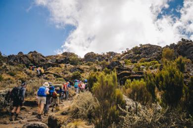 Tour di trekking sul Kilimangiaro in Tanzania lungo la Lemosho Route
