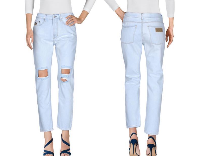 Jeans strappati sul ginocchio da donna a sigaretta