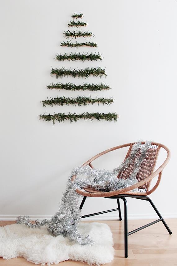 Albero di Natale da appendere al muro