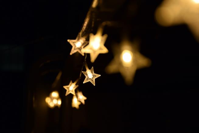 Luci a forma di stelle