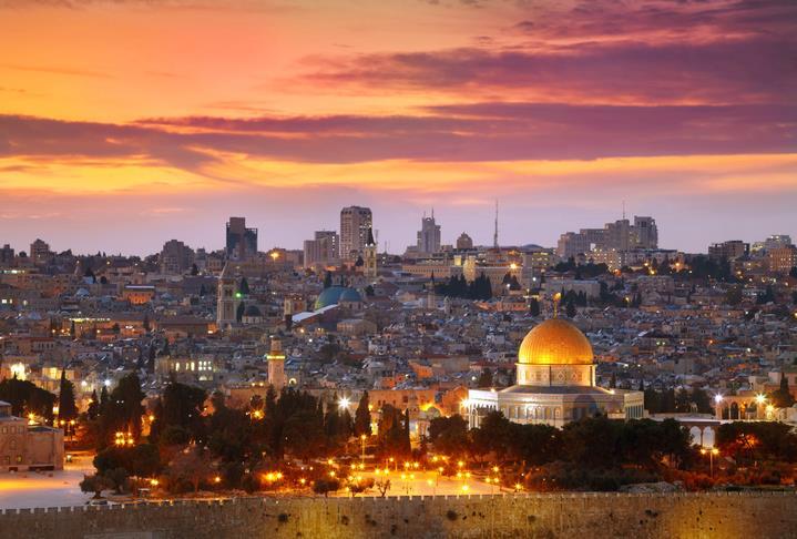 Gerusalemme al tramonto