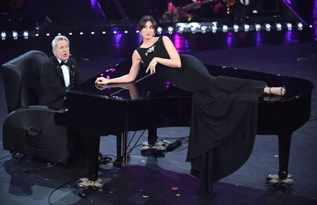 Claudio Baglioni e Virginia Raffaele