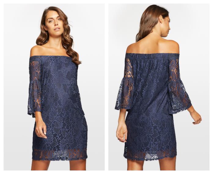 d141d07d18d4 Yamamay In pizzo il vestito blu di tendenza per l'autunno 2018