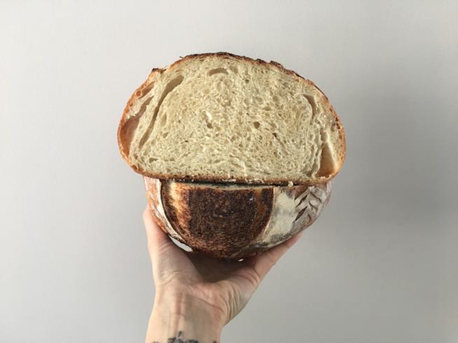 Pane bianco con lievito madre e farina di riso