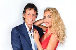 Valeria Marini e Patrick Baldassarri in primo piano