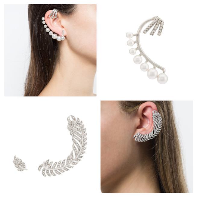 Mono orecchini con perle e brillanti di tendenza A/I 2018-19