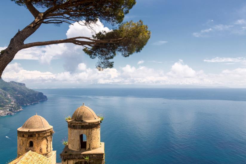 Il bellissimo panorama di Ravello in Costiera Amalfitana