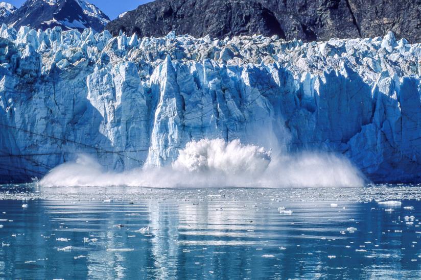 Un ghiacciaio nel Parco nazionale e riserva di Glacier Bay
