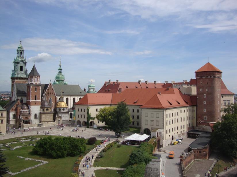 Il nucleo centrale del castello di Wawel