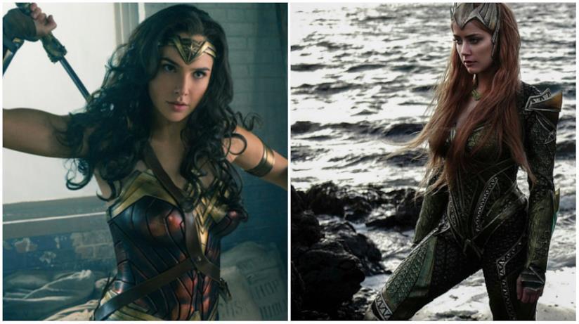 Wonder Woman e Mera in un collage
