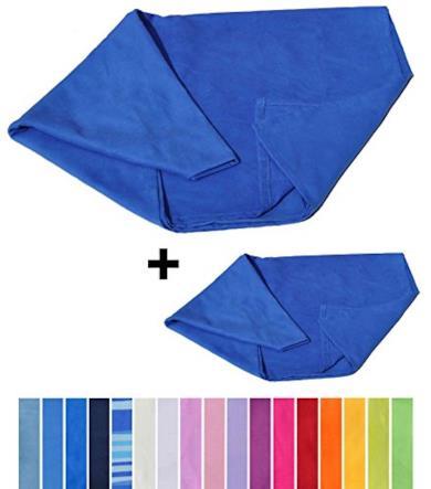 Coppia asciugamani in microfibra