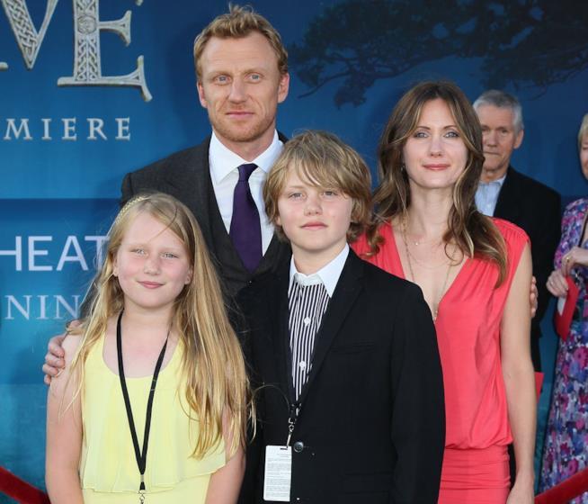 Kevin McKidd e la sua famiglia