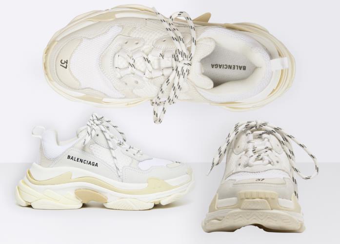 reputable site 47a6b 3d7dc Balenciaga Balenciaga Sneaker Triple S Bianche