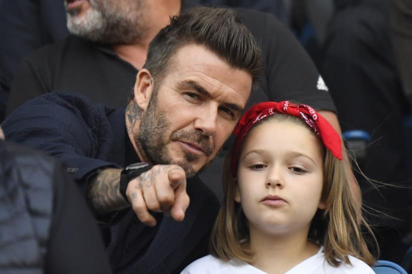 Harper Beckham acconciatura