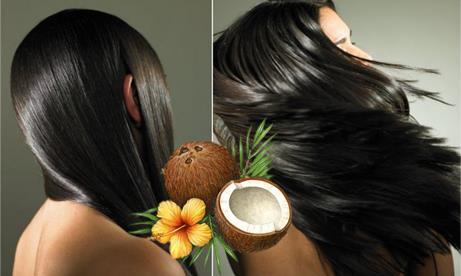 Effetto olio di cocco sui capelli