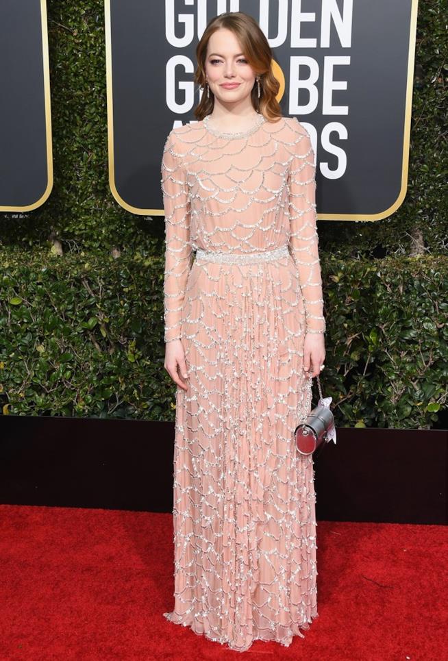Emma Stone ai Golden Globes 2019