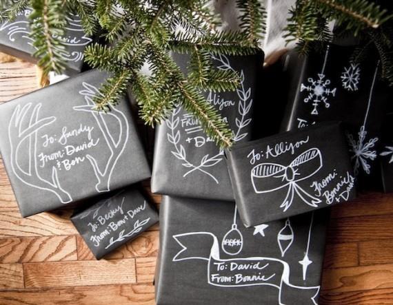 Pacchetti regalo con la carta fai da te