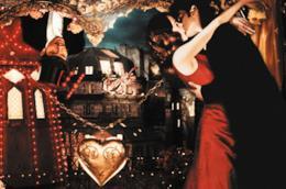 Una scena di Moulin Rouge
