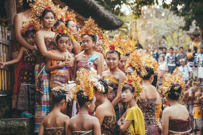 Danzatrici di Bali in Indonesia