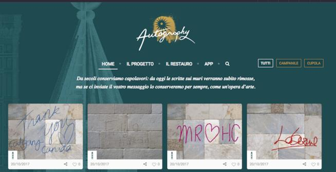 Home page di Autography
