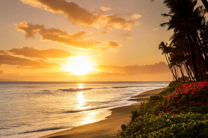 Una romantica spiaggia a Maui