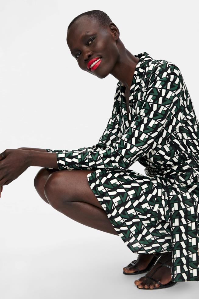 Vestito Zara con chiusura incrociata