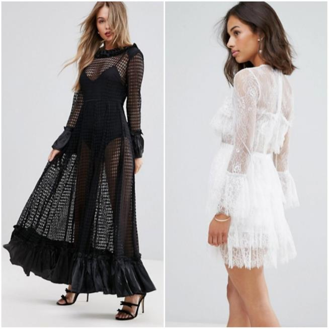 Due abiti con trasparenze