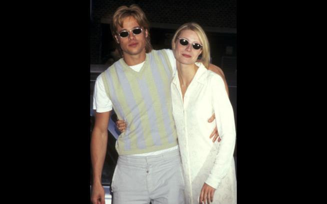 Brad Pitt e Gwyneth Paltrow con un look caual