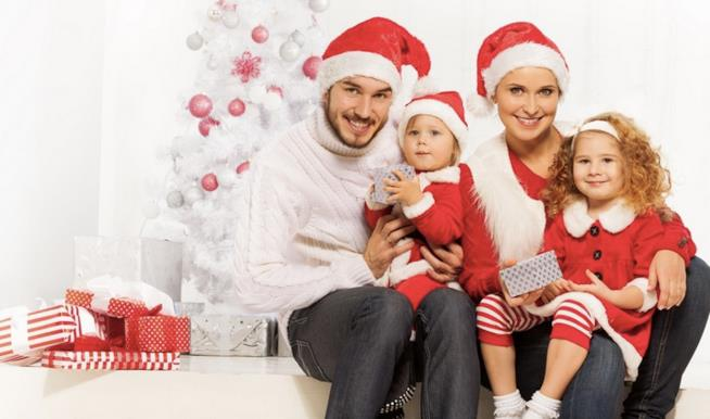 Una famiglia a Natale