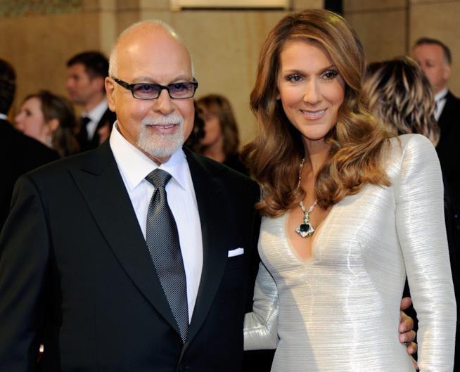Céline Dion con il marito René Angelil